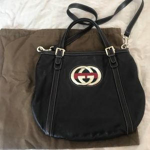 Used Brown Leather authentic Gucci bag